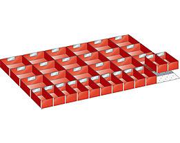 LISTA Kunststoffeinsatzkasten - für Schrankmaße 1023 x 725 mm - für Schubladenhöhe 100 mm