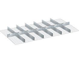 Trennwand - für Schrankmaße 1431 x 725 mm - für Schubladenhöhe 200 mm