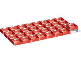 LISTA Kunststoffeinsatzkasten - für Schrankmaße 1431 x 725 mm - für Schubladenhöhe 75 mm