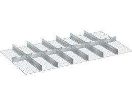 LISTA Trennwand - für Schrankmaße 1431 x 725 mm - für Schubladenhöhe 75 mm