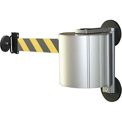 VIAGUIDE Gurtbandkassette aus Aluminium - magnetisch inkl. Gurtendstück