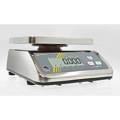 Edelstahlwaage mit Spritzwasserschutz - BxTxH 230 x 300 x 130 mm
