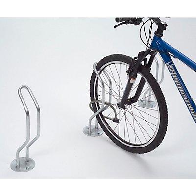 Fahrradständer, kompakt - Einzel-Stellplatz - verzinkt, zum Aufdübeln