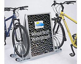 Support vélos 2 emplacements avec espace publicitaire format A1