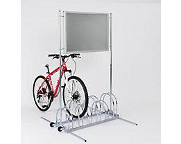 Range–vélos avec cadre publicitaire pour feuilles format A1