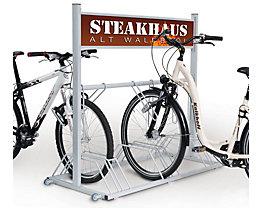 SECURITY STATION support vélo haute sécurité avec panneau publicitaire