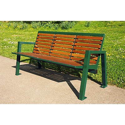 Böco Sitzbank mit Holzauflage - 3-er Bank