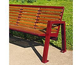 Sitzbank mit Holzauflage - 4-er Bank
