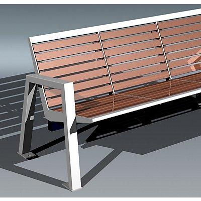 Böco Sitzbank mit Holzauflage - 4-er Bank
