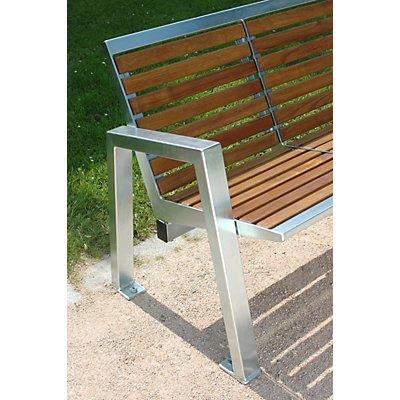 Böco 4-er Sitzbank - Edelstahl mit Holzauflage - Länge 2085 mm