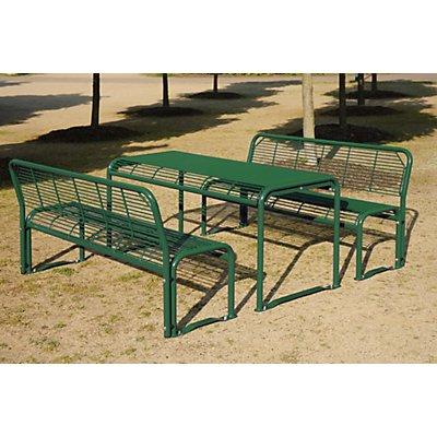 Böco Sitzgarnitur aus Stahl - Bank, Tisch