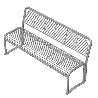Böco 3-er Sitzbank, robust - Stahl, verzinkt
