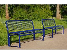 3-er Sitzbank, robust - Stahl, verzinkt