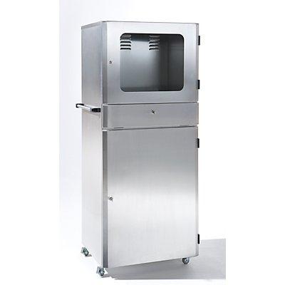 Edelstahl-PC-Schrank - Schutzart IP32 - HxBxT 1600 x 700 x 560 mm