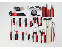 VIGOR Werkzeug-Sortiment ESSENTIAL - Kombi-Werkzeug-Set, 21-teilig. lose (ohne Einlage)