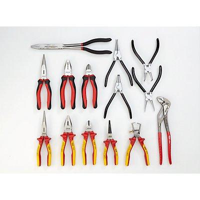 VIGOR Werkzeug-Sortiment FORCE - Zangen und Zubehör, 14-teilig, lose (ohne Einlage) - Werkzeug lose