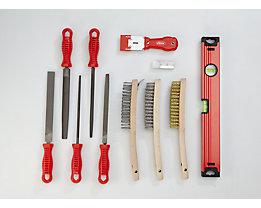 VIGOR Werkzeug-Sortiment SHAPE - Feilen und Bürsten, 20-teilig, lose (ohne Einlage)