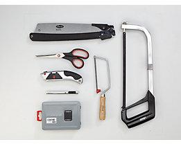 VIGOR Werkzeug-Sortiment SAW - Bohrer, Sägen, Messer, Scheren, 25-teilig, lose (ohne Einlage)
