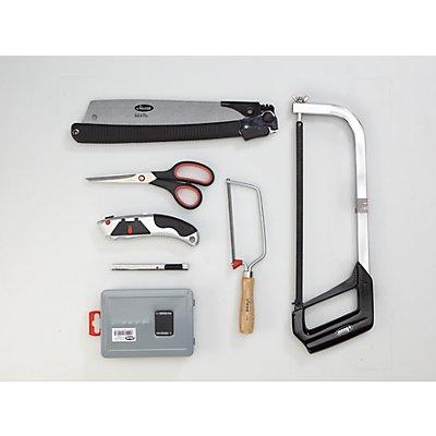 VIGOR Werkzeug-Sortiment SAW - Bohrer, Sägen, Messer, Scheren, 25-teilig, lose (ohne Einlage) - Werkzeug lose