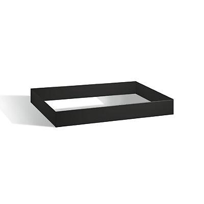 Sockel - schwarzgrau, Höhe 100 mm