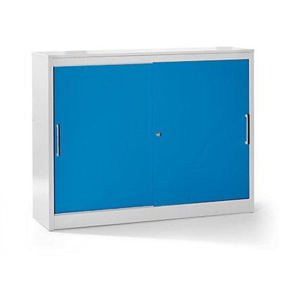 Mauser Schiebetürschrank - Sideboard, 4 Fachböden, Mitteltrennwand