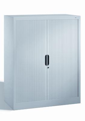 CP Rollladenschrank mit Horizontal-Jalousie - HxBxT 1230 x 1000 x 420 mm, 2 Fachböden, 3 Ordnerhöhen
