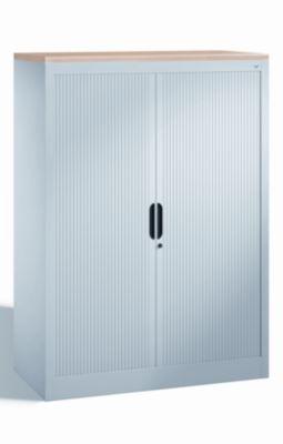 CP Rollladenschrank mit Horizontal-Jalousie - HxBxT 1345 x 1000 x 420 mm, 3 Fachböden, 3,5 Ordnerhöhen