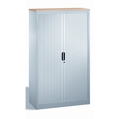 cp armoire rideaux lames verticales h x l x p 1660 x 1000 x 420 mm 3 tablettes 4. Black Bedroom Furniture Sets. Home Design Ideas