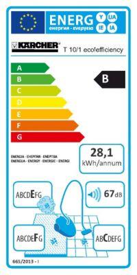 Kärcher Trockensauger T 10/1 eco!efficiency - LxBxH 355 x 310 x 410 mm, Behälterinhalt 10 l