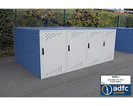 Fahrradbox - Anbauelement mit Bogendach