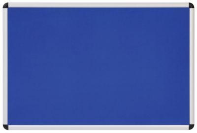 Textiltafel blau - mit Aluminiumrahmen