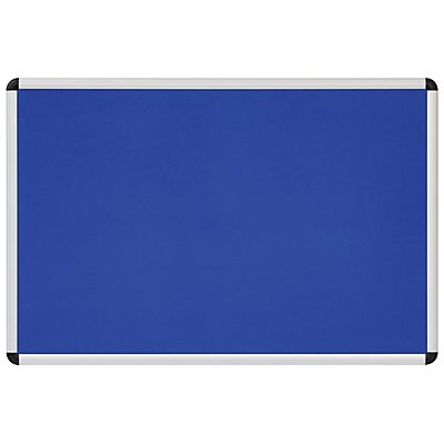 Textiltafel blau - mit Aluminiumrahmen - HxB 600 x 900 mm