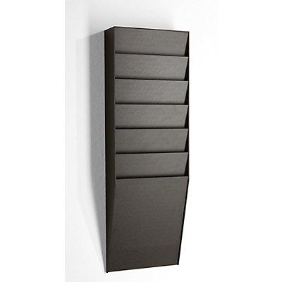 Tableau de tri - 1 x 6 casiers, h x l x p 712 x 236 x 79 mm - noir