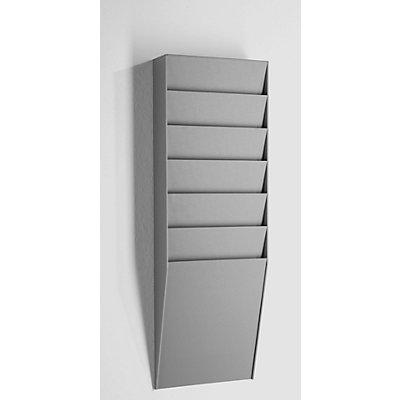 Sortiertafel - 1 x 6 Fächer, HxBxT 712 x 236 x 79 mm - schwarz