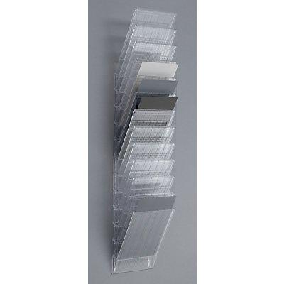 Durable Wandprospektspender - Hochformat, 12 x DIN A4, VE 2 Stk