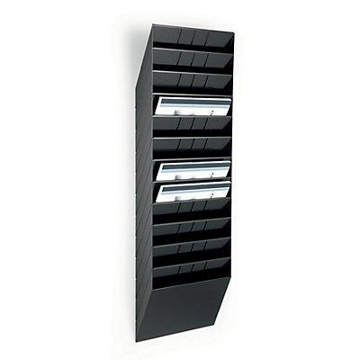 Durable Distributeurs muraux de prospectus - format horizontal, 12 x A4, lot de 2