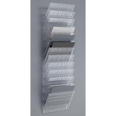 Durable Wandprospektspender - Querformat, 12 x DIN A4, VE 2 Stk