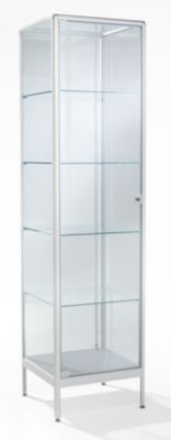 office akktiv Säulenvitrine - HxBxT 1950 x 500 x 500 mm