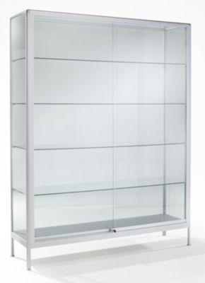 office akktiv Standvitrine - mit Glastüren