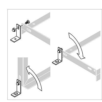Boden-Montagewinkel - VE 2 Stk - inkl. Montagematerial