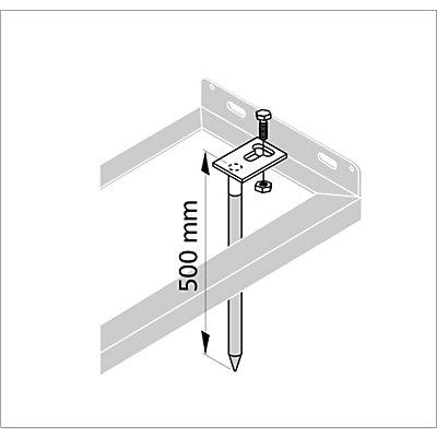 Bodenanker - VE 2 Stk - inkl. Montagematerial