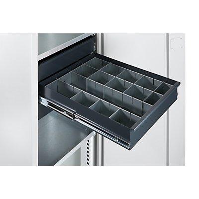 QUIPO Materialschrank - Breite 950 mm, 4 Ausziehböden