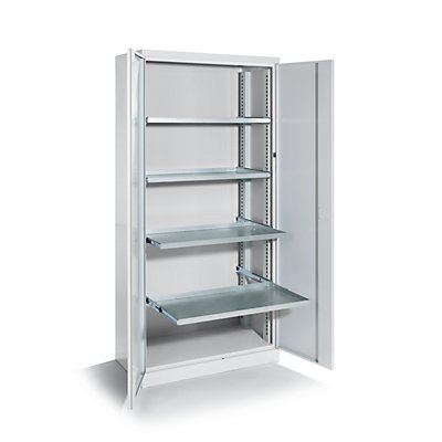 QUIPO Armoire d'atelier - largeur 950 mm, 3 tablettes coulissantes, 3 tiroirs