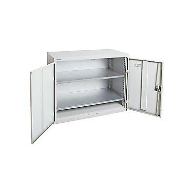 Flügeltürschrank - mit Vollblechtüren, 2 Fachböden