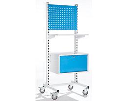 EUROKRAFT – Pupitre mobile d'atelier - tiroir pour dossiers suspendus