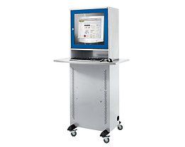 QUIPO Computerschrank - mit melaminharzbeschichteter Arbeitsplatte