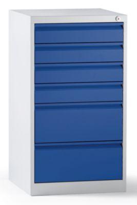 QUIPO Schubladenschrank, Stahl - HxBxT 900 x 500 x 500 mm, 6 Schubladen