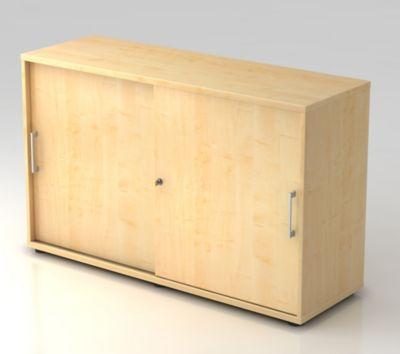 office akktiv Schiebetürenschrank - Höhe 760 mm, 1 Fachboden