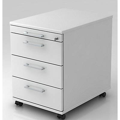 office akktiv Rollcontainer - 1 Utensilienschub, 3 Materialschübe, Tiefe 580 mm