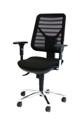 PANDA Ergonomischer Bürostuhl - inkl. Armlehnen und Punktsynchronmechanik